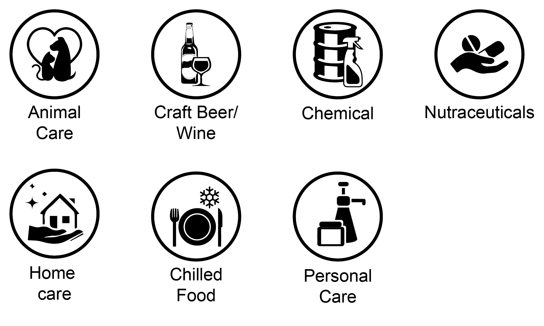 Suitable applications for VP750 industrial color label printer includes product labels for animal care, craft beer and wine, chemical, supplement, home care, body care and chilled food product label